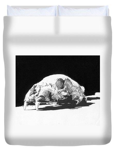 Bear Skull Duvet Cover