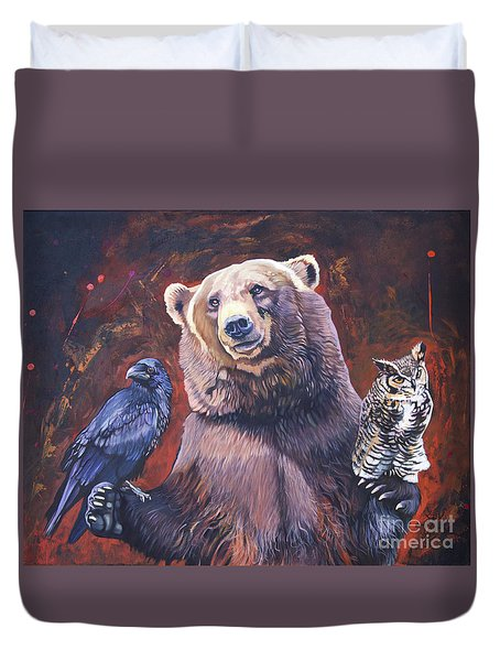 Bear The Arbitrator Duvet Cover