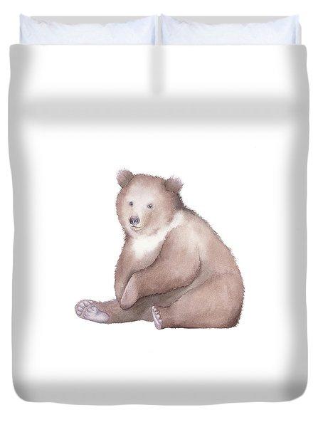 Bear Watercolor Duvet Cover by Taylan Apukovska