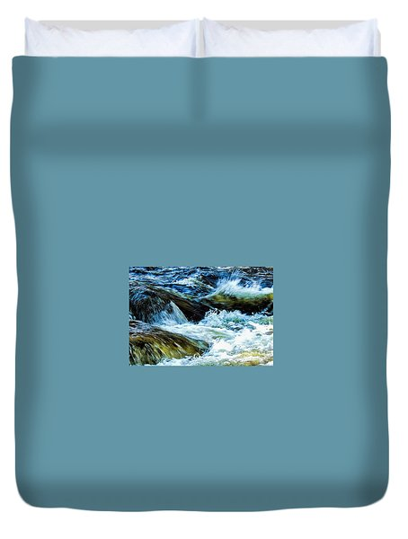 Bearcamp River Tamworth N H Duvet Cover by Mim White
