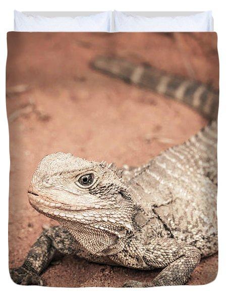 Bearded Dragon Lizard Duvet Cover