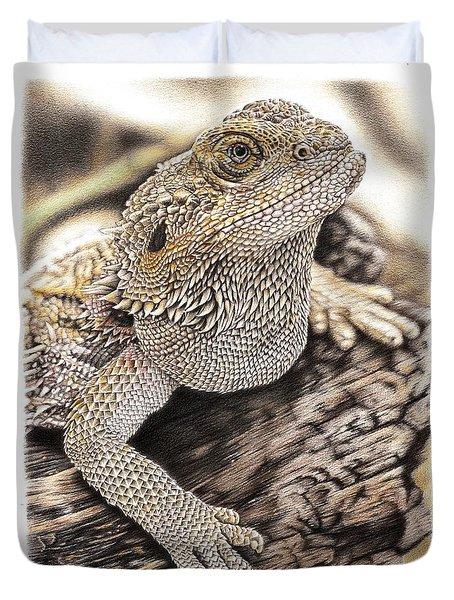 Bearded Dragon Duvet Cover