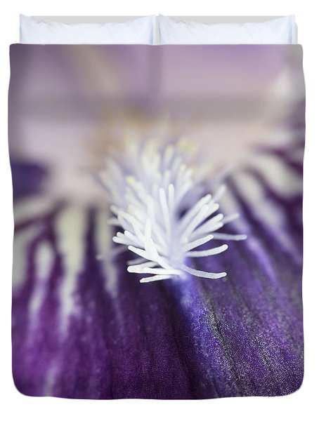 Duvet Cover featuring the photograph Bearded Iris 2 by Elena Nosyreva