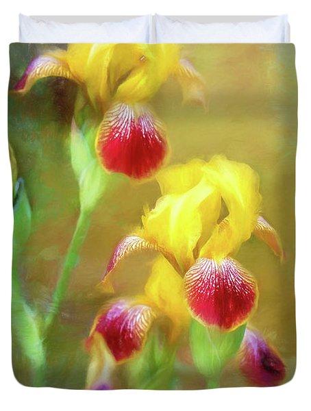Bearded Iris Pair Duvet Cover