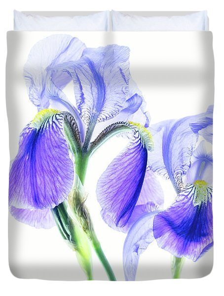 Bearded Iris Duvet Cover