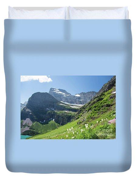 Beargrass - Grinnell Glacier Trail - Glacier National Park Duvet Cover