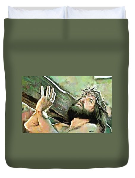 Bearing The Cross Duvet Cover
