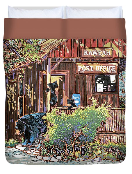 Bears At The Kaweah Post Duvet Cover