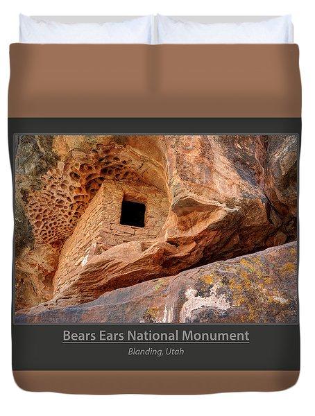 Bears Ears National Monument - Anasazi Ruin Duvet Cover by Gary Whitton