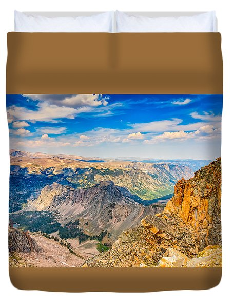 Duvet Cover featuring the photograph Beartooth Highway Scenic View by John M Bailey