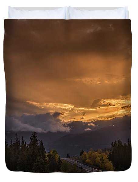 Beartooth Highway Sunset Wyoming Duvet Cover