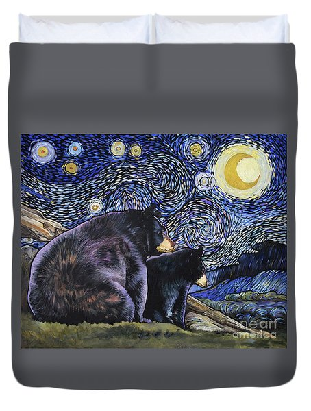 Beary Starry Nights Too Duvet Cover