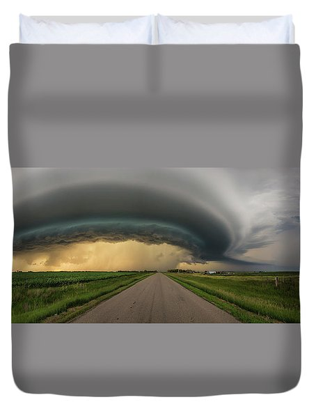 Duvet Cover featuring the photograph Beast by Aaron J Groen