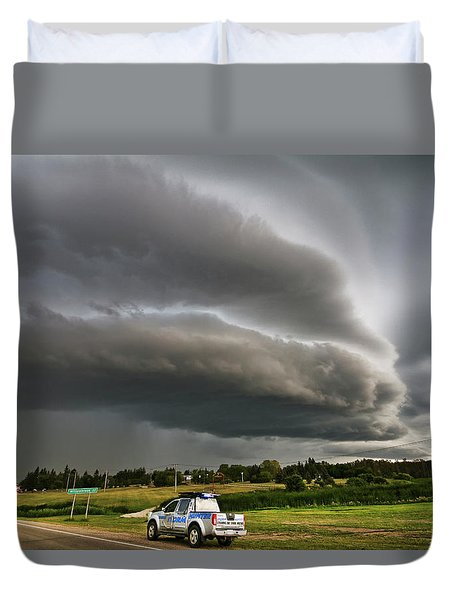 Beast Over Yorkton Duvet Cover