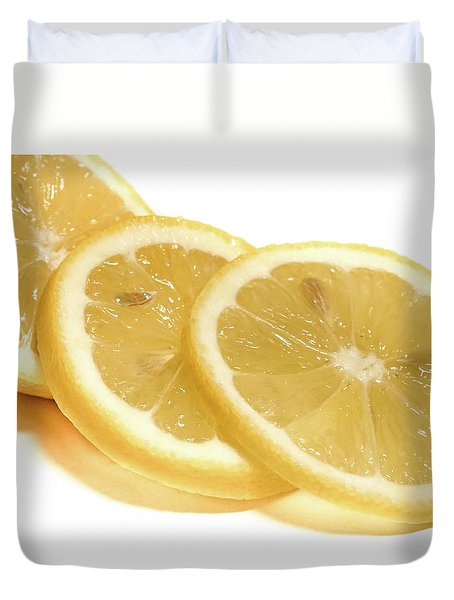 Beat The Heat With Refreshing Fruit Duvet Cover by Nick Mares