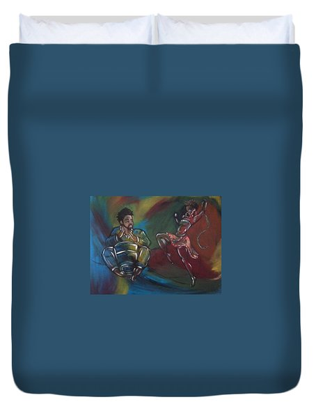 Beat To A Different Drum Duvet Cover by Jenny Pickens