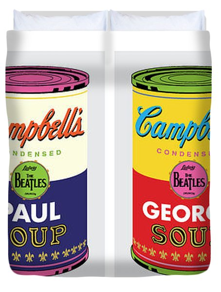 Beatle Soup Cans Duvet Cover