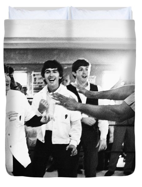 Beatles And Clay, 1964 Duvet Cover