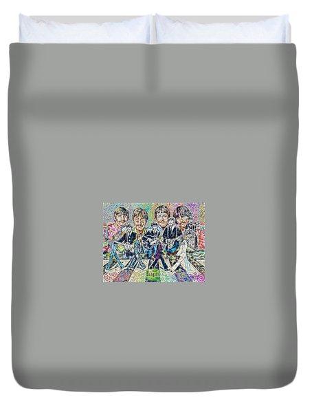 Beatles Tapestry Duvet Cover by Dave Luebbert