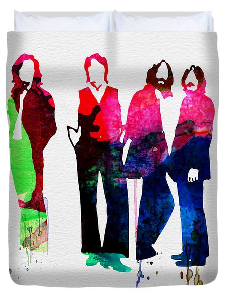 Beatles Watercolor Duvet Cover