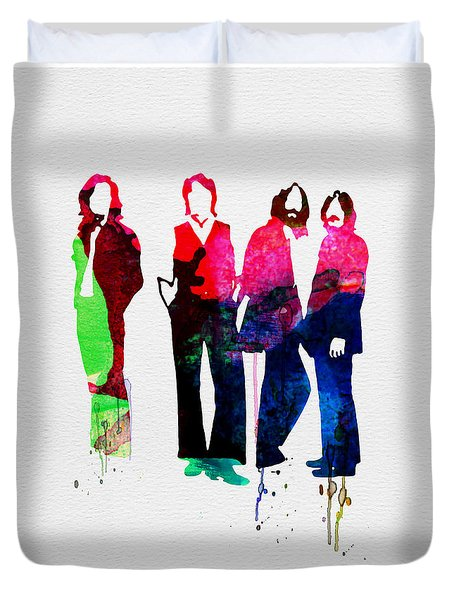 Beatles Watercolor Duvet Cover