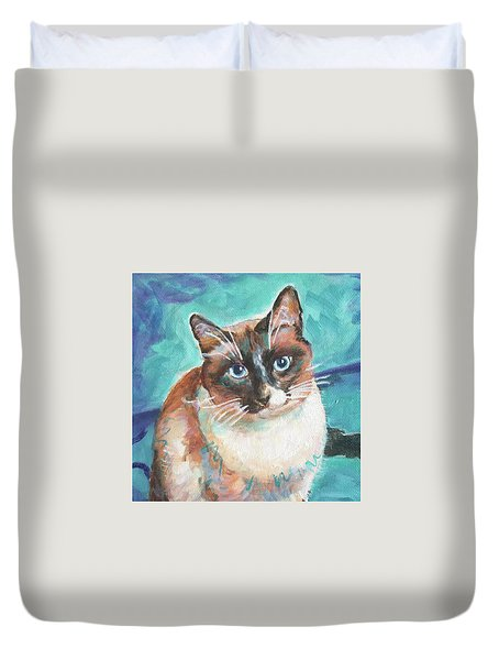 Beau Kitty Duvet Cover