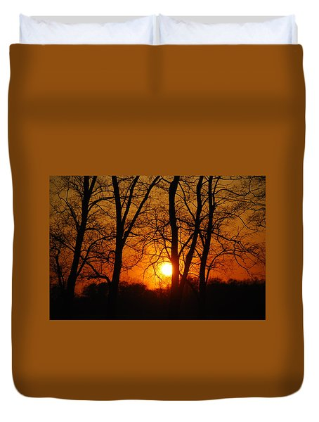 Beauatiful Red Sunset Duvet Cover