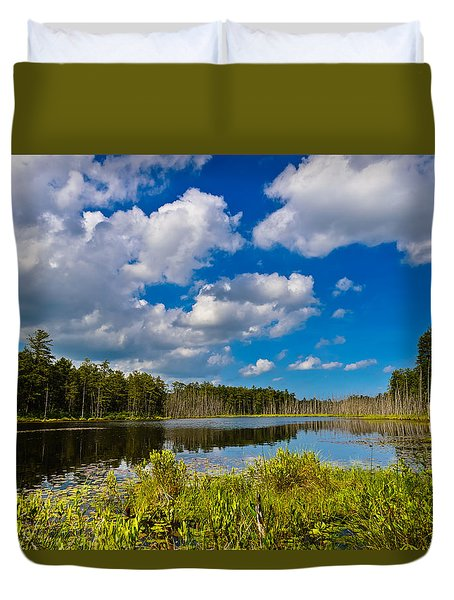 Beautiful Afternoon In The Pine Lands Duvet Cover