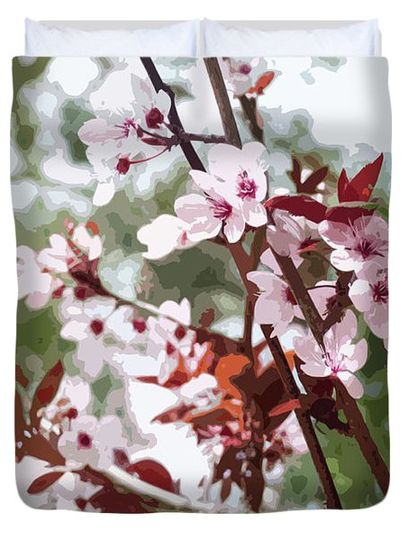 Beautiful Almond Blossoms Duvet Cover