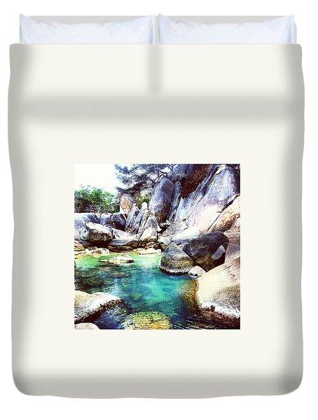 Stones In Water Duvet Cover