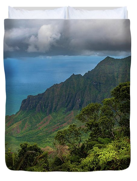 Beautiful And Illusive Kalalau Valley Duvet Cover