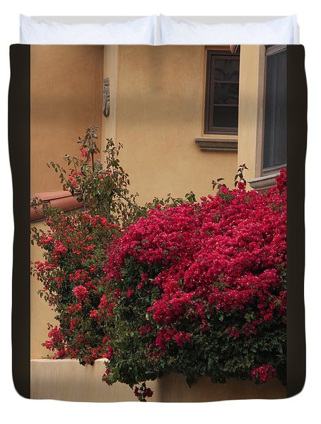 Beautiful Balcony With Bougainvillea Duvet Cover by Ivete Basso Photography