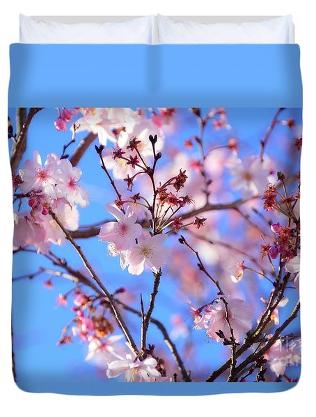 Beautiful Blossoms Blooming  For Spring In Georgia Duvet Cover