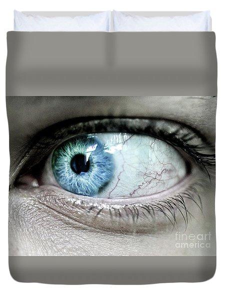 Beautiful Blue Eye Duvet Cover