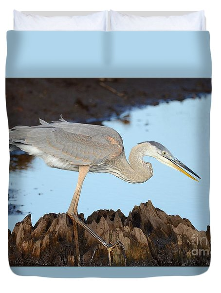 Duvet Cover featuring the photograph Beautiful Blue  by Kathy Gibbons