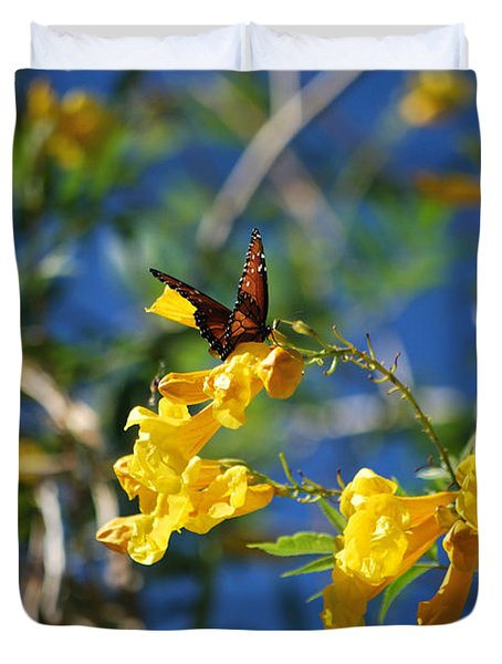 Beautiful Butterfly Duvet Cover by Donna Greene