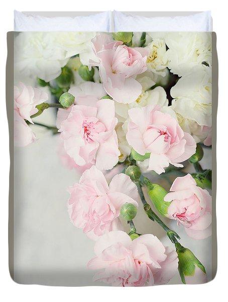 Beautiful Carnations Duvet Cover