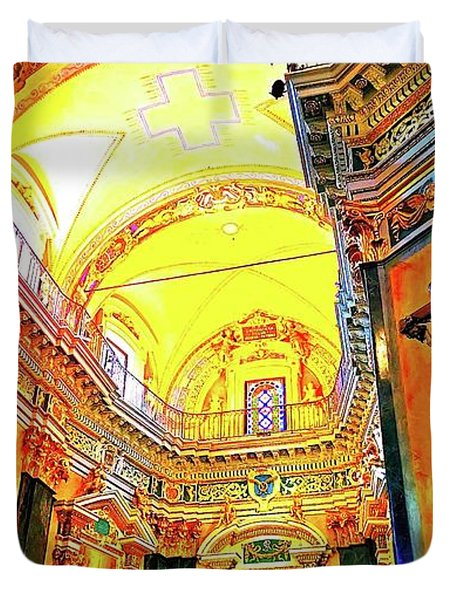 Beautiful Church In Nizza Duvet Cover