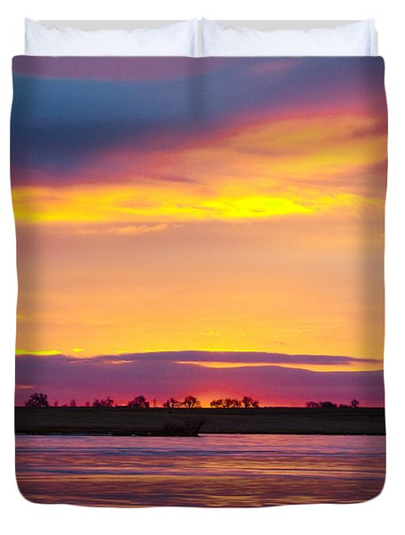 Beautiful Colorful Boulder County Winter Morning Duvet Cover by James BO  Insogna