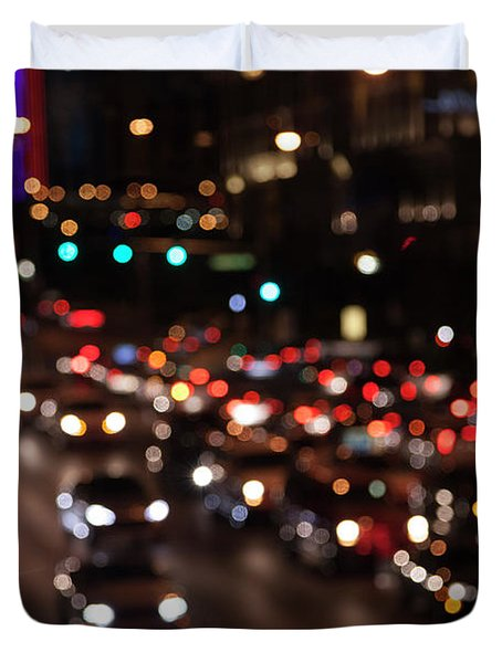 Duvet Cover featuring the photograph Beautiful Congestion by Eric Christopher Jackson