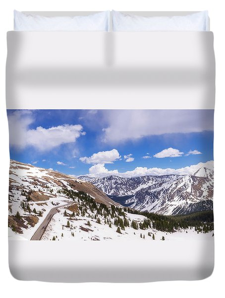 Duvet Cover featuring the photograph Beautiful Cottonwood Pass by Tim Reaves