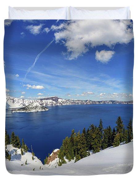 Beautiful Crater Lake Duvet Cover