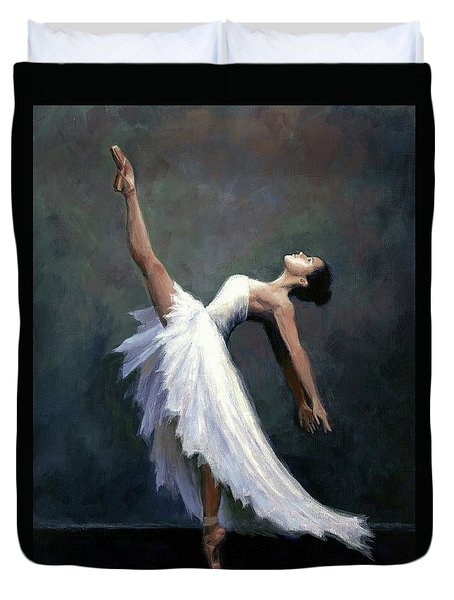 Duvet Cover featuring the painting Beautiful Dancer by Janet King