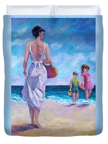 Beautiful Day At The Beach Duvet Cover