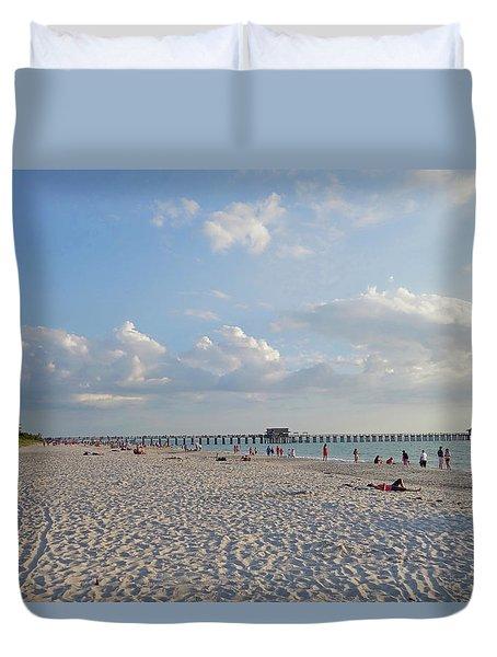 Beautiful Day On Naples Beach Naples Florida Duvet Cover