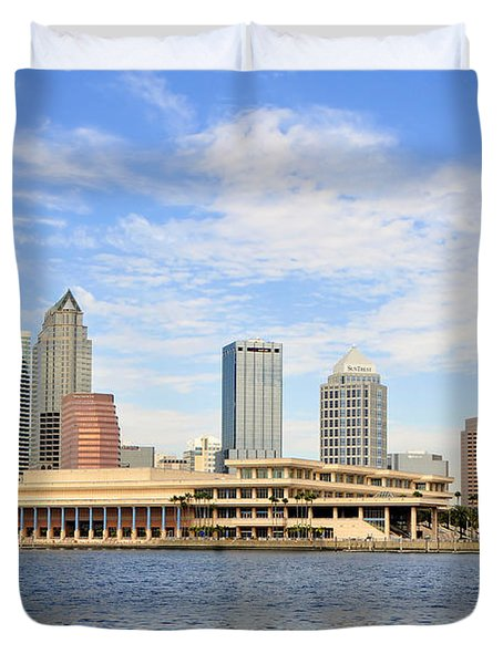 Beautiful Day Tampa Bay Duvet Cover by David Lee Thompson