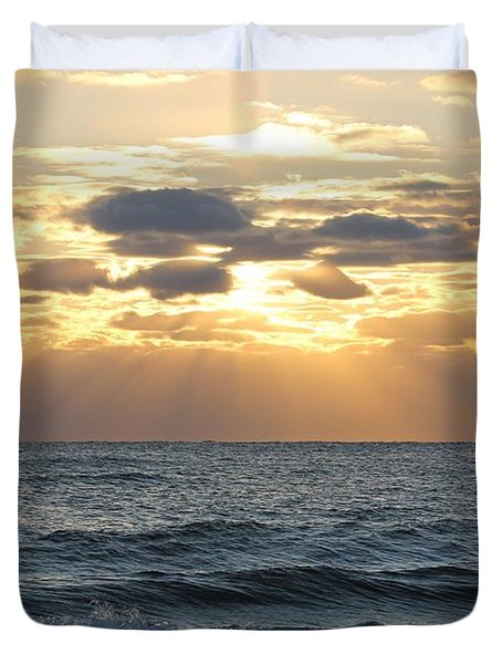 Duvet Cover featuring the photograph Beautiful Days by Robert Banach