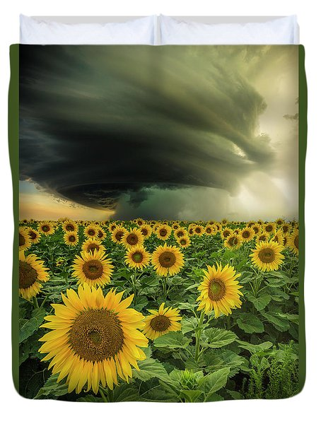 Duvet Cover featuring the photograph Beautiful Destruction  by Aaron J Groen