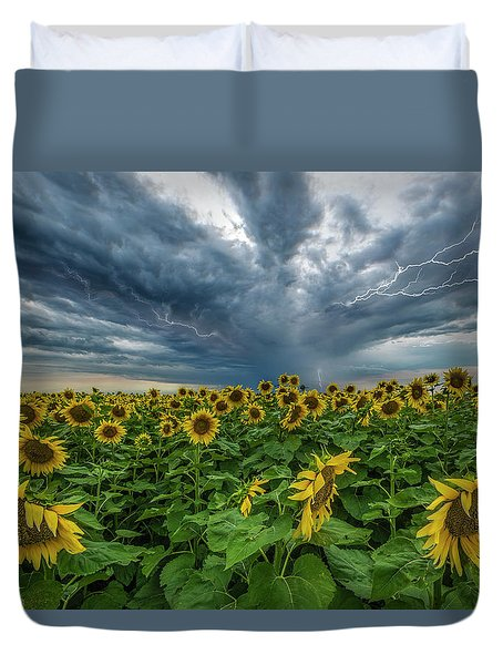 Duvet Cover featuring the photograph Beautiful Disaster  by Aaron J Groen