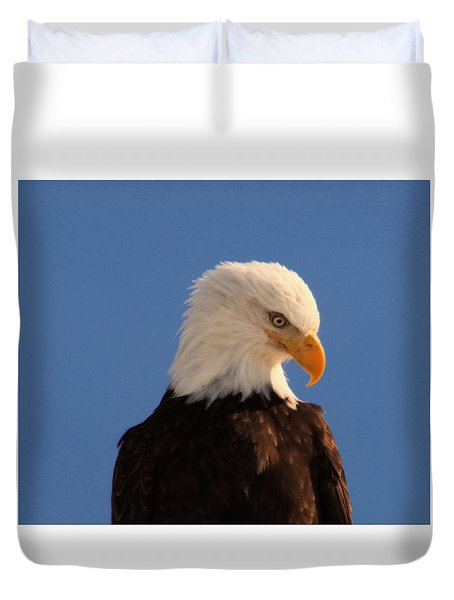 Duvet Cover featuring the photograph Beautiful Eagle by Jeff Swan